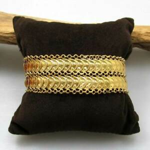 Sonderaktion Gold Armband aus 916 / 22 KT Gelbgold 2-reihig mit Münz - Elementen