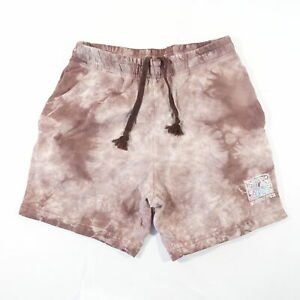 QUIKSILVER TIE DYED PURPLE SMALL 29 31 ELASTIC WAIST SWEAT SHORTS MENS PREOWNED