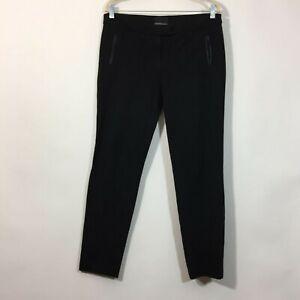 Cynthia Rowley Dress Pants Size 10 Black Slim Leg Career Trouser Slacks