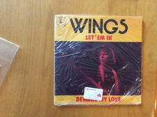 "PAUL MCCARTNEY & WINGS""LET 'EM IN/BEWARE MY LOVE"" 45 W/PIC SLEEVE STILL SEALED!!"