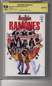 Archie Meets Ramones # 1 - Cover B Veronica Fish - CBCS 9.8 WHITE - SS CJ Ramone