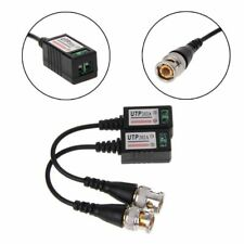 1 Pair 1CH Passive UTP Video Balun Twisted Transceiver BNC For Cat5 CCTV Camera