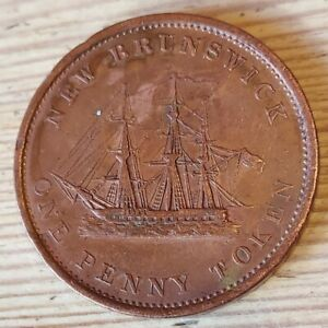 Canada - New Brunswick One Penny Token 1843 Victoria- High Grade