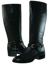 Ralph Lauren Womens Marion Wide Calf Strap Buckle Zipper Pull On Knee High Boots
