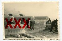 PANZERSCHIFF ADMIRAL GRAF SPEE - orig. Foto - vereist, Pillau, Februar 1936
