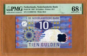 Netherlands, 10 Gulden, 1997, P-99, PMG-68, EPQ, Pre-Euro, Superb Gem UNC