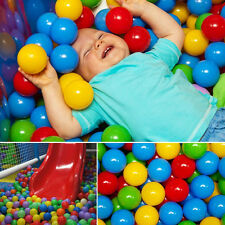 100x Multi-Color Kid Plastic Soft Play Balls Toy for Ball Pit Swim Pit Ball Pool