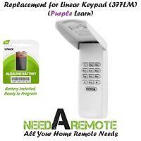 For 377LM Liftmaster Garage Door Keypad Keyless Entry Code Opener Purple Learn