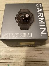 Garmin Instinct Solar Rugged Outdoor Watch with GPS - Graphite No Cord