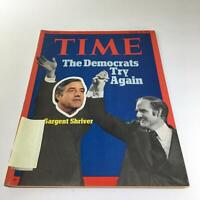 Time Magazine: August 14 1972 - The Democrats - Try Again Sargent Shriver