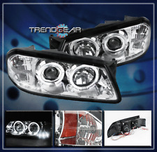 2000-2005 CHEVY IMPALA HALO LED PROJECTOR HEADLIGHTS CHROME 2001 2002 2003 2004
