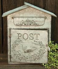 Mailbox Wedding Card Holder & Wedding Gift Vintage Chic Galvanized Metal BIRD