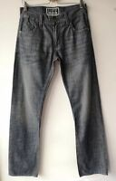 LEVI'S 514 JEANS W30 L33 slim straight blue faded vintage retro look 100% cotton