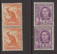 Australia 2 x coil strips x 2 including one with join (both no w/m)