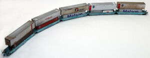 Custom Athearn 5 unit well car set Southern Pacific ex Maersk  HO