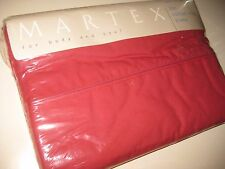 NIP / New Solid Garnet RED QUEEN Size Flat Bed Sheet 250 TC by Martex USA