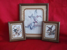 Vintage Charles E. Murphy Set of 3 Ducks Print Lithograph 1980-Framed/Matted