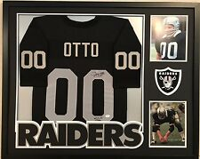 FRAMED JIM OTTO AUTOGRAPHED SIGNED INSCRIBED OAKLAND RAIDERS JERSEY JSA