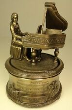 MOZART The Magic Flute MUSIC BOX Playing Piano Sculpture Statue Bronze Color