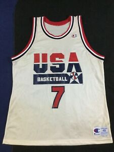 Vintage USA Basketball Team Olympic Larry Bird #7 Champion Jersey Size48