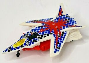Transformers 1995 G2 Cyberjets SPACE CASE Red White Blue Plane Jet Figure