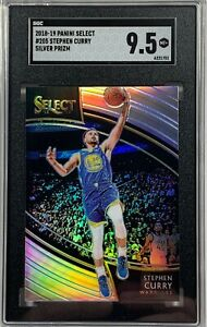 2018 Select STEPHEN CURRY Courtside Silver Prizm SGC 9.5 MINT+