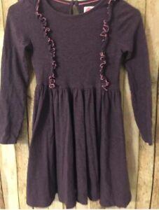 Mini Boden Dress 9 10 Year 140 Cotton Heathered Purple SUPER SOFT