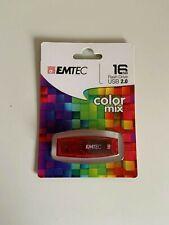 Emtec ECMMD 16GC410 16GB Color Mix usb 2.0 - Red -  Brand New