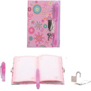 geheimes Mädchen Tagebuch m. Schloss Magic Pen Kinder Poesiealbum Kindertagebuch