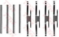 pfk71 TRW Kit de accesorios, Pastillas Freno de disco Eje delantero