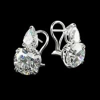 2.00 Ct Excellent Cut Diamond Drop Dangle Solitaire Earrings 14k White Gold Over