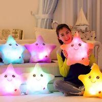 Luminous Led Plush Star Pillow Night Light Colorful Stars Gift Toys Home Decor