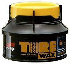 Soft99 Tire Black Wax Tyre Clean Protection Shine + Applicator Sponge