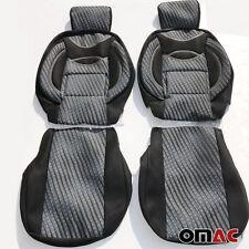 ZEBRA Schonbezüge Sitzbezug (schwarz-grau) VW T4 / LT / T5 / T6 CRAFTER 1+1