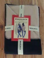 NWT Women's WOOLRICH Black Camel Reversible Poncho Style Wrap Sweater One Sz