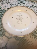 VTG Temple Treasures Kistner Co. Chicago Desert Plate.  In Hoc Signo Spes Mea