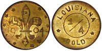 1904 G25C LA Purchase Expo Gold Token  / X-Tn1 PCGS AU