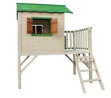 SPECHT Kinderspielhaus Stelzenhaus Gartenhaus Spielhaus für Kinder aus Holz neu