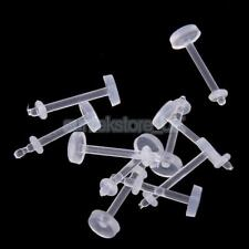 lot 30pcs Clear Acrylic 16G/18G Lip Ring Bar Labret Retainers Body Piercing