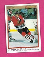 1990-91 OPC PREMIER # 100 HAWKS JEREMY ROENICK ROOKIE NRMT+  CARD (INV# C0177)