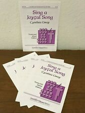 *LOT OF 15* SING A JOYFUL SONG by Cynthia Gray- Heritage - 3 Part Choral Octavo