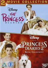 THE PRINCESS DIARIES 1 + 2  SEALED/NEW dvds one and two 5017188816144