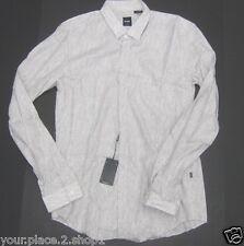 "Hugo Boss Black Label Mens ""Orien_1""  Abstract Gray Slim Fit Sport Shirt $155"