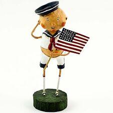 LORI MITCHELL July 4th AYE AYE ADAM Sailor Boy Folk Art Figure US Flag Figurine