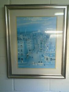 Large Michel Delacroix Print MONMARTRE - Frame 85 cm x 70 cm / Art 60 cm x 46 cm
