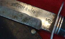 ANTIQUE GERMAN HUNTING KNIFE SOLINGEN (Sheriff Knife) ORIGINAL SCABBARD