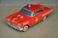 Vintage Friction FD 119 Chief Litho Red Car Tin Toy , Japan