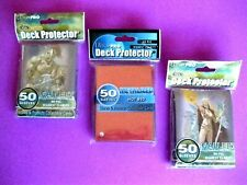 (3) Ultra-Pro DECK PROTECTOR Sealed 50 Count Packs, No PVC Store & Protect Cards