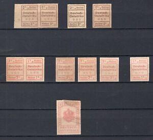 Deutsch-Ostafrika aus III - V WUGA-Ausgabe * ungebraucht Einzelmarken auswählbar