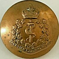 Canadian Medical Corps Pre-WWII 20mm Brass Uniform Button with King's Crown